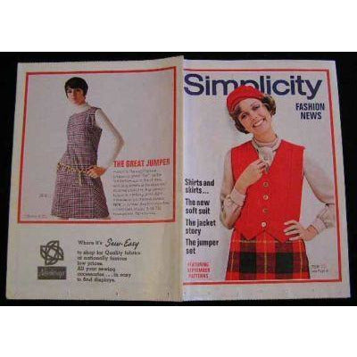 Vintage Simplicity Fashion News Catalogue For September 1968 - The Best Vintage Clothing