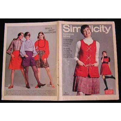 Vintage Simplicity Fashion News Catalogue For September 1969 - The Best Vintage Clothing