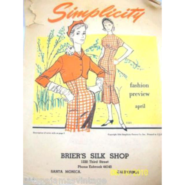 Vintage Simplicity Pattern Booklet Color  1950S - The Best Vintage Clothing  - 1