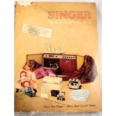 Vintage Singer Catalog 700 Pgs 1964 Barbie/Toys Color - The Best Vintage Clothing  - 1