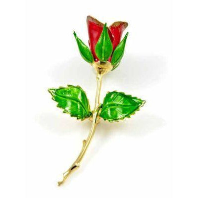Vintage Single Red Rose Brooch 1960S Your Name Rose? - The Best Vintage Clothing  - 1