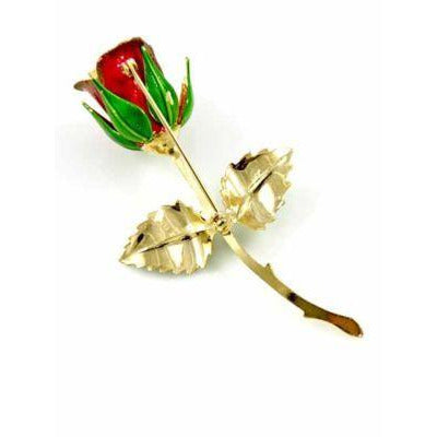 Vintage Single Red Rose Brooch 1960S Your Name Rose? - The Best Vintage Clothing  - 2
