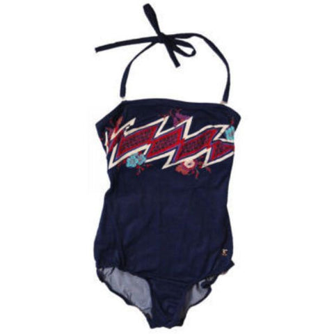 Vintage Swimsuit Bathing Suit  & Matching Skirt Oleg Cassini 1970S Sz 8