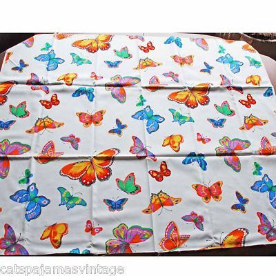"Vintage Textile Yardage Fabric Cranston Print Works Butterflies 44""W x 68""L - The Best Vintage Clothing  - 3"