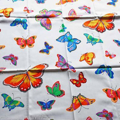 "Vintage Textile Yardage Fabric Cranston Print Works Butterflies 44""W x 68""L - The Best Vintage Clothing  - 4"