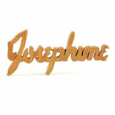 "Vintage Wooden Name Pin Josephine 4"" 1940S - The Best Vintage Clothing  - 1"