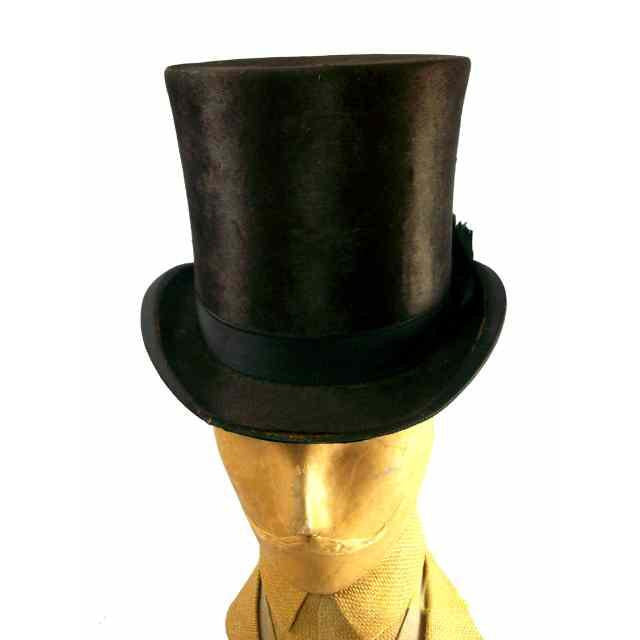 Antique Mens Stove Pipe Hat 1880s JH Windsor - The Best Vintage Clothing  - 1