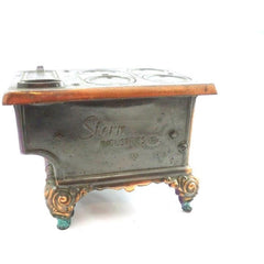 RARE Antique Stern West Miniature  Stove Copper Bronze  Heavy - The Best Vintage Clothing  - 3