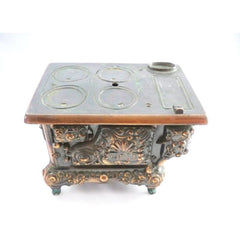 RARE Antique Stern West Miniature  Stove Copper Bronze  Heavy - The Best Vintage Clothing  - 4
