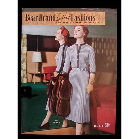 Bear Brand Hand Knit Fashions Pattern Catalog Vol 346 1953 - The Best Vintage Clothing  - 1
