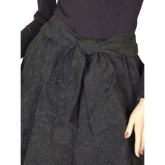 Vintage Black Jersey Dress W/Textured Brocade Skirt Nan Wynn 1950s 36-24-Free - The Best Vintage Clothing  - 2