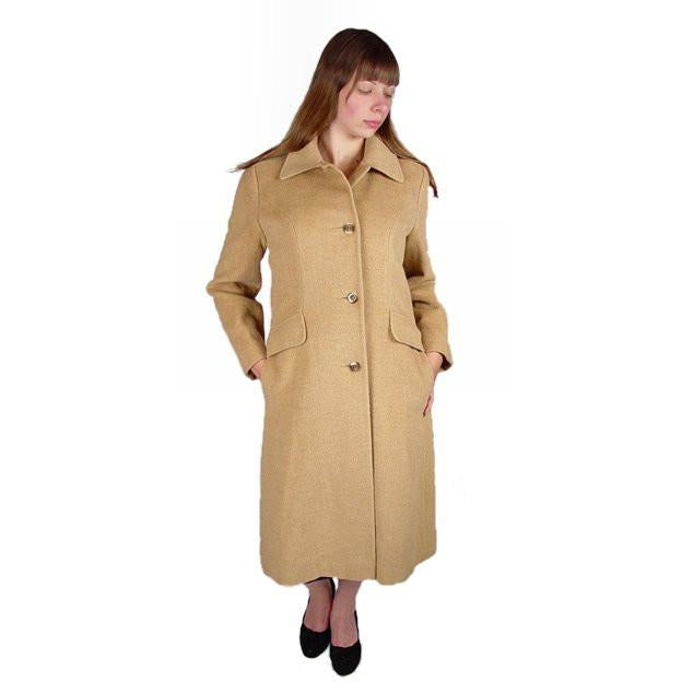Vintage Coat Ultima 100% Camel Hair Classic Style 1970S Small -Med - The Best Vintage Clothing  - 1