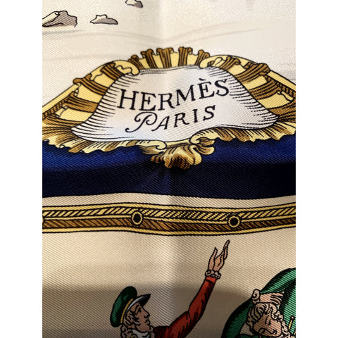 New in box Vintage Hermès Scarf Plaisirs Du Froid winter