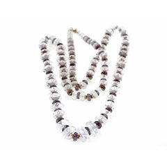 Vintage Estate Jewelry Necklace Rock Crystal Amethyst Beads 14K - The Best Vintage Clothing  - 2