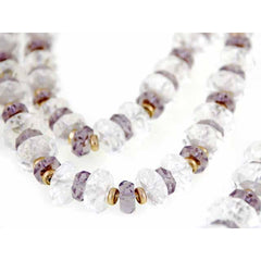 Vintage Estate Jewelry Necklace Rock Crystal Amethyst Beads 14K - The Best Vintage Clothing  - 4