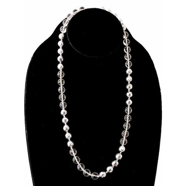 Vintage Estate Jewelry Necklace Rock Crystal/Silver Beads 1920S - The Best Vintage Clothing  - 1