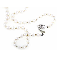 Vintage Necklace Genuine 3-5mm  Pearls W 10K Clasp - The Best Vintage Clothing  - 4