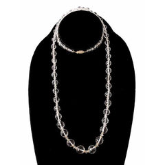 "Vintage Estate Jewelry Necklace Rock Crystal Beads 14K 36"" 1920 - The Best Vintage Clothing  - 5"