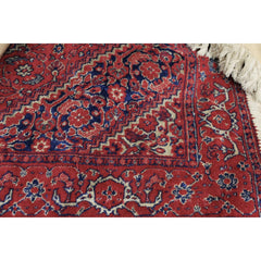 "Antique Khasgai Silk Throw Rug  Red Blue 45"" X 26"" 3 available"