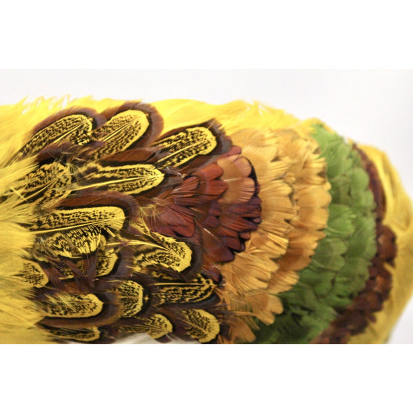 "Vintage Womens Feather Pheasant Hat Stunning Gold Breton 21"" 1950s Marvelous Maisel"