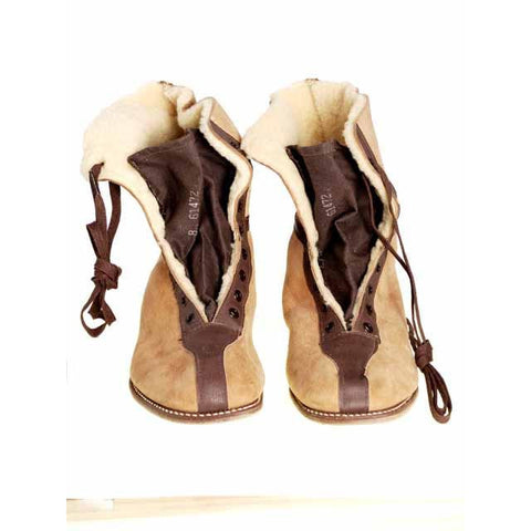 Rare Mens Vintage Sherpa Wanigan 2-Tone Boots 1940S 8 Never Worn - The Best Vintage Clothing  - 1