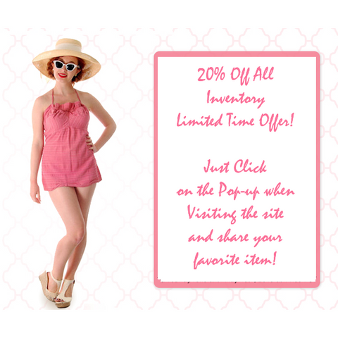 Sale 20% Off Limited Time Offer!