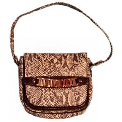 Vintage Ladies Mr. John Jr Faux Snakeskin Hat & Purse 1970S Brown - The Best Vintage Clothing  - 3