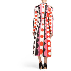 Valentino Carmen Striped Polka-Dot Leather Trench Coat $16500 NWT Sz 4 Sold Out - The Best Vintage Clothing  - 2
