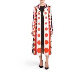 Valentino Carmen Striped Polka-Dot Leather Trench Coat $16500 NWT Sz 4 Sold Out - The Best Vintage Clothing  - 3