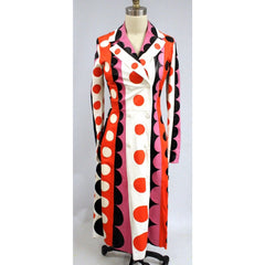 Valentino Carmen Striped Polka-Dot Leather Trench Coat $16500 NWT Sz 4 Sold Out - The Best Vintage Clothing  - 5