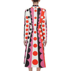 Valentino Carmen Striped Polka-Dot Leather Trench Coat $16500 NWT Sz 4 Sold Out - The Best Vintage Clothing  - 7