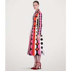 Valentino Carmen Striped Polka-Dot Leather Trench Coat $16500 NWT Sz 4 Sold Out - The Best Vintage Clothing  - 8