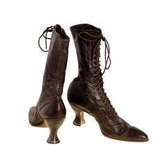 Victorian Ladies Julia Marlowe Boots w/Louis Spool Heels Brown 1900 Size 6  NWOT - The Best Vintage Clothing  - 8