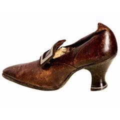 Victorian Shoe Single Pilgrim Vamp Louis Heel 1900 For Design/Collection - The Best Vintage Clothing  - 2