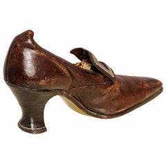 Victorian Shoe Single Pilgrim Vamp Louis Heel 1900 For Design/Collection - The Best Vintage Clothing  - 4