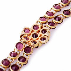 Vintage Amethyst Glass/Brass Bracelet/Brooch 1940S Revival - The Best Vintage Clothing  - 3