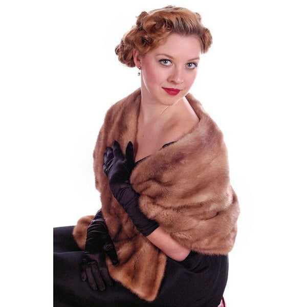 Vintage Mink Stole Autumn Haze Mink  Shawl Collar 1950S - The Best Vintage Clothing  - 7