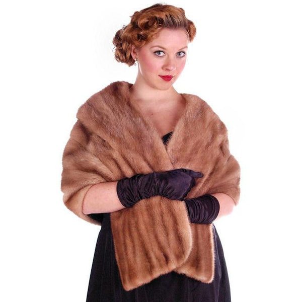 Vintage Mink Stole Autumn Haze Mink  Shawl Collar 1950S - The Best Vintage Clothing  - 3