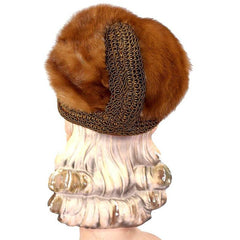 Vintage Autumn Haze Mink Hat Fab Soutache 1950S Robinsons - The Best Vintage Clothing  - 4