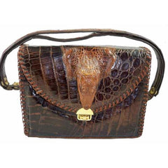 Vintage Alligator Purse Etco Baby Alligator Hand Bag  Florida 1940'S - The Best Vintage Clothing  - 1
