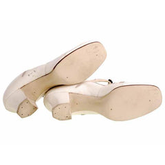 Vintage Mary Jane Shoe Ties 1920's Unique WOmens  Sz 5B NIB Brown Bilt Ivory - The Best Vintage Clothing  - 6