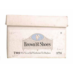 Vintage Mary Jane Shoe Ties 1920's Unique WOmens  Sz 5B NIB Brown Bilt Ivory - The Best Vintage Clothing  - 7