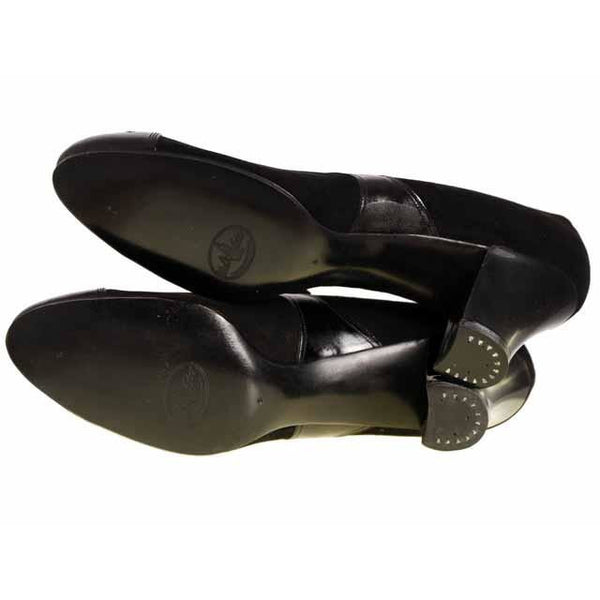 Vintage Ladies Black Suede/Patent Cap Toe Oxford Shoes 1920S Walk Over NIB Size 6A - The Best Vintage Clothing  - 7