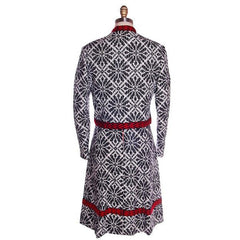 Vintage Black & White Jacquard Dress/Jacket Saks 70s 35-29-36 - The Best Vintage Clothing  - 5