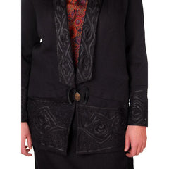 Vintage Black  Paisley Wool/Silk Dress Suit Amazing Design Early 1920s 39-42-50 - The Best Vintage Clothing  - 5