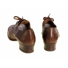 Vintage Brown Leather/Reptile Oxfords Shoes Walk Over 1920S NIB Sz EU37 6.5D - The Best Vintage Clothing  - 2