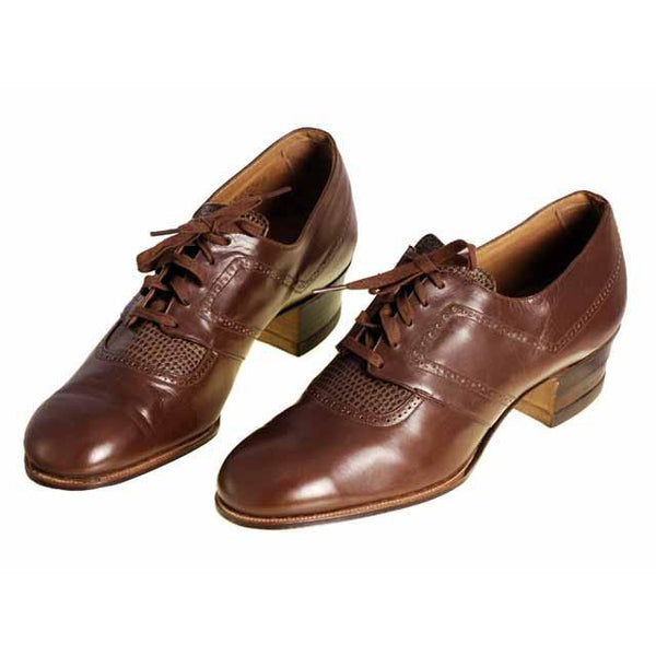 Vintage Brown Leather/Reptile Oxfords Shoes Walk Over 1920S NIB Sz EU37 6.5D - The Best Vintage Clothing  - 5
