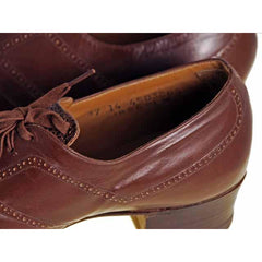 Vintage Brown Leather/Reptile Oxfords Shoes Walk Over 1920S NIB Sz EU37 6.5D - The Best Vintage Clothing  - 6