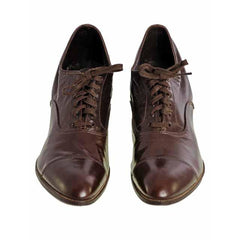 Vintage Brown Leather Early 1920S Oxford Shoes Size EU 36 Size 6 Ladies - The Best Vintage Clothing  - 2