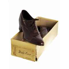 Vintage Brown Leather Early 1920S Oxford Shoe  EU 36 Ladies US Sz  6 NIB - The Best Vintage Clothing  - 3